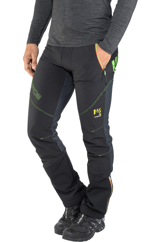 4f0fd5d80 Karpos Alagna Plus Pantalones Hombre, black/dark grey/green fluo